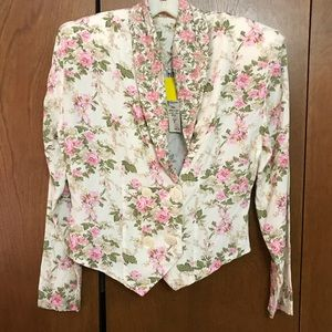 Vintage Flower Pink Rose Top